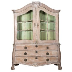 18th Century Cerused Dutch Cupboard