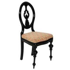 Late 19th Century Ebonized Side Chair