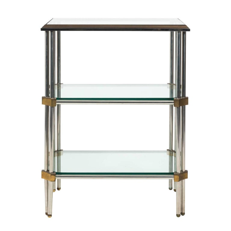 Iron and Brass Three-Tier Étagère