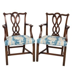 Set of English Chippendale Style Dining Chairs