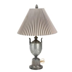 Metal Urn Lamp with Shade