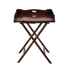 English Mahogany Butler's Tray Table