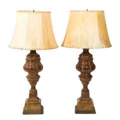 Pair of 19th Century Italian Baluster Lamps