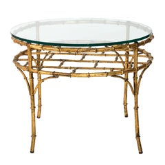 Gilded Faux Bamboo Coffee Table