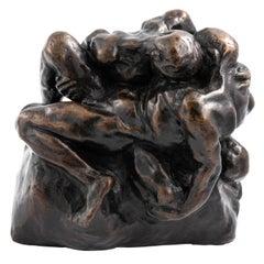"Bronze Figure of ""Wrestlers"" by Glyn Philpot"