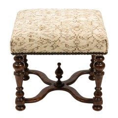 Jacobean Style Walnut Bench