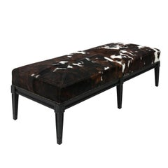 Louis XVI Style Upholstered Bench