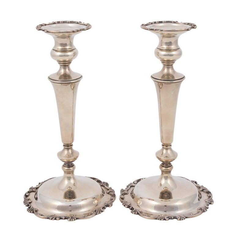 Durgin Rare Sterling Silver Candlesticks