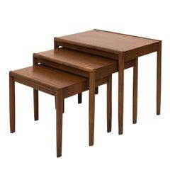 Set of Three Nesting Tables, Mid-Century Modern