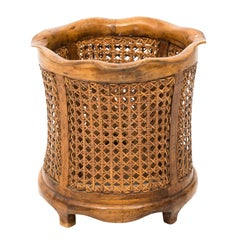Regency Style Wicker Dust Bin