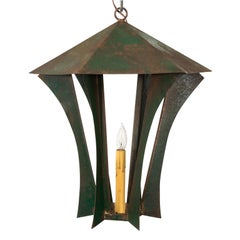 Green Steel Lantern, circa 1940s