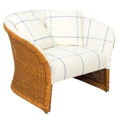 Rattan Upholstered Settee