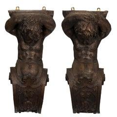 Figural Resin Wall Brackets