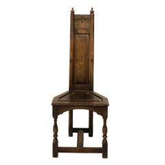 Arts & Crafts Walnut Corner Chair, circa 1895