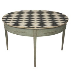Late 18th Century Swedish Painted Drop Leaf Center Table