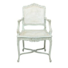 French Painted Louis XVI Armchair