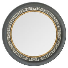 Neoclassical Round Painted Mirror