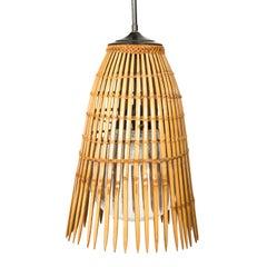 Mid-Century Modern Bamboo Ceiling Light