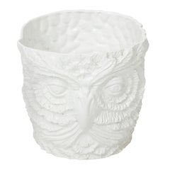 White Painted Owl Planter
