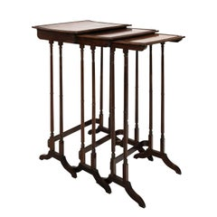 Set of Three English Rosewood Nesting Tables