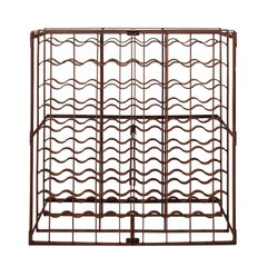 Industrial French Wrought Iron Wine Cage