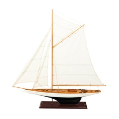 White Painted Sailboat Model