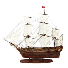 Brown Painted Naval Ship Model