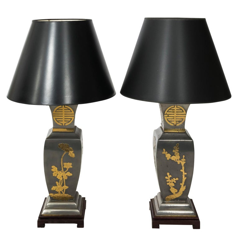 Pair of Brass Oriental Lamps