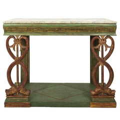 Early 19th Century Neoclassical Grecian Design Console Table