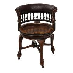 Oak Captain's Chair