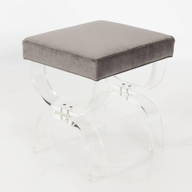 Pair of Lucite Benches by Hill Manufacturing, circa 1970 For Sale 2
