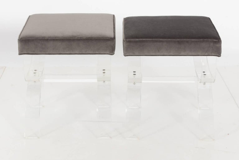 Pair of Lucite Benches by Hill Manufacturing, circa 1970 For Sale 6