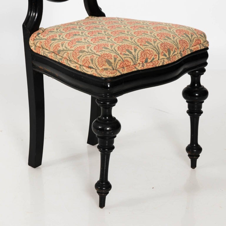Wood Late 19th Century Ebonized Side Chair For Sale