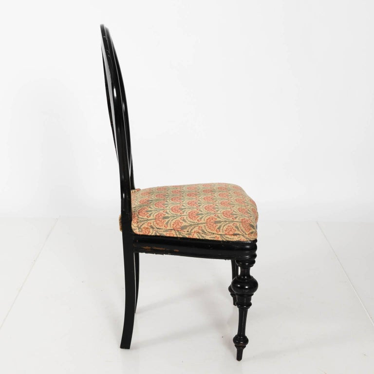 Late 19th Century Ebonized Side Chair For Sale 1