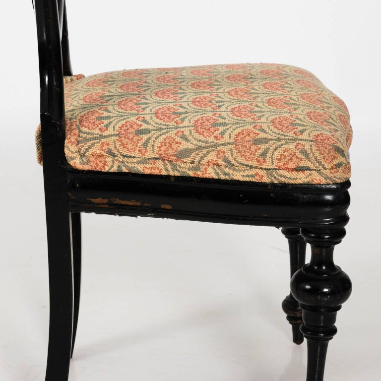 Late 19th Century Ebonized Side Chair For Sale 2