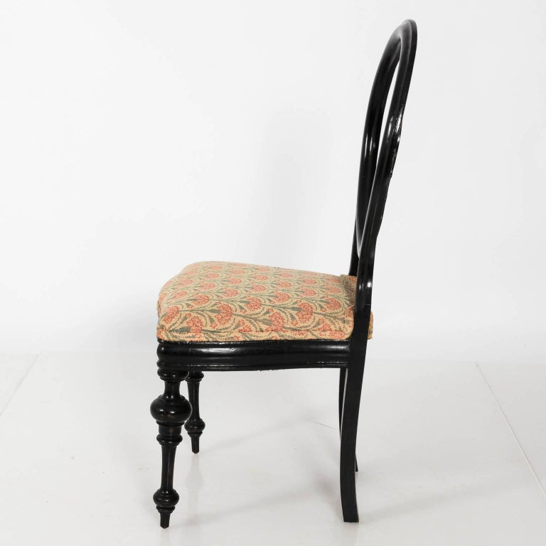 Late 19th Century Ebonized Side Chair For Sale 6