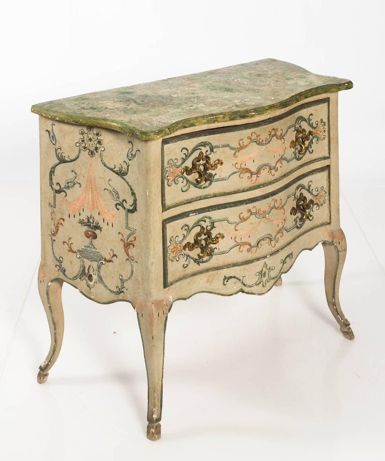 Painted Rococo Style Chest of Drawers For Sale 3