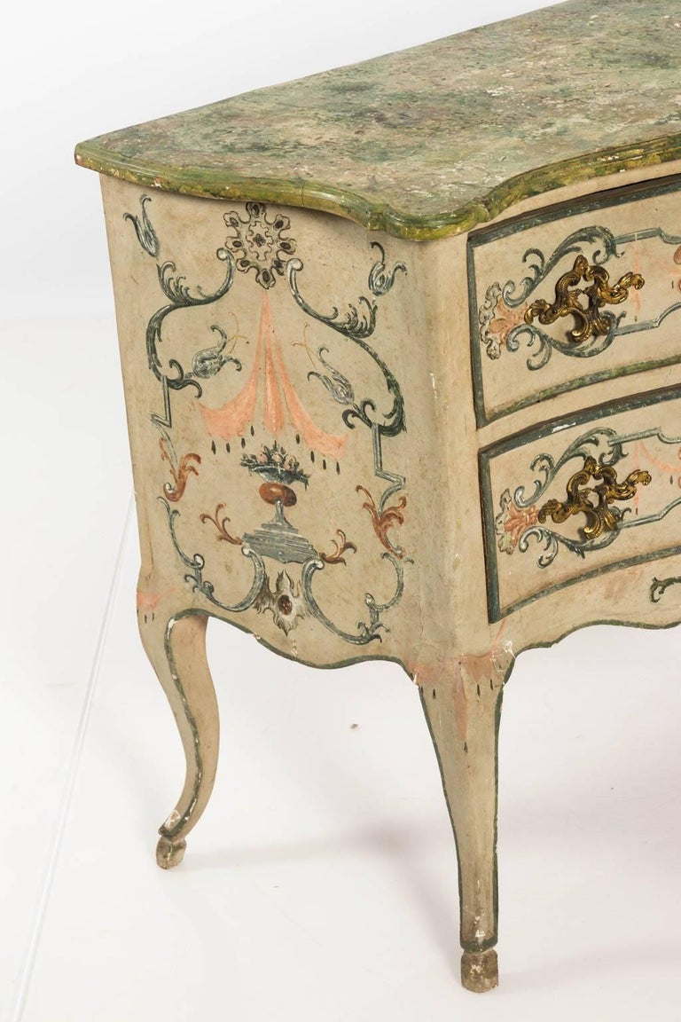 Painted Rococo Style Chest of Drawers For Sale 4