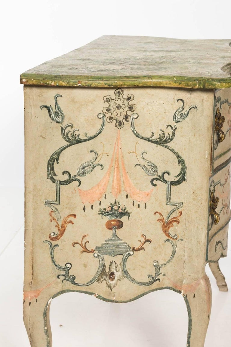 Painted Rococo Style Chest of Drawers For Sale 8