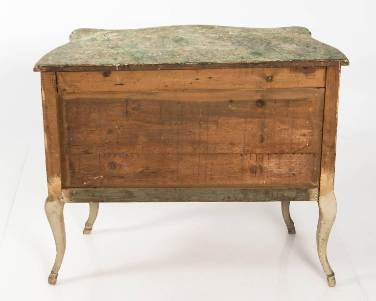 Painted Rococo Style Chest of Drawers For Sale 10