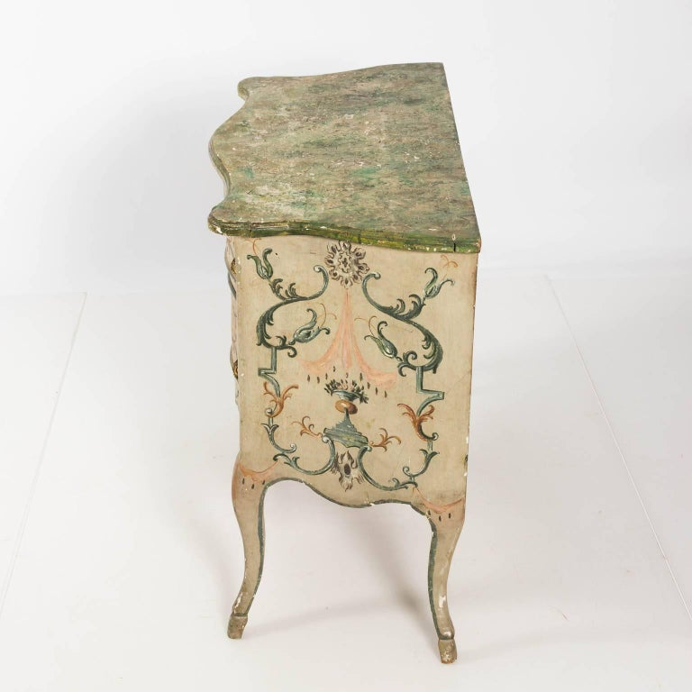 Painted Rococo Style Chest of Drawers For Sale 11
