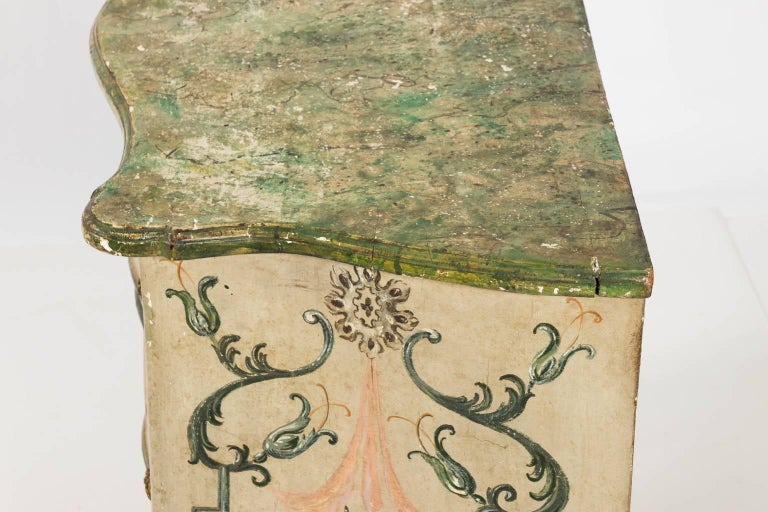 Painted Rococo Style Chest of Drawers For Sale 12