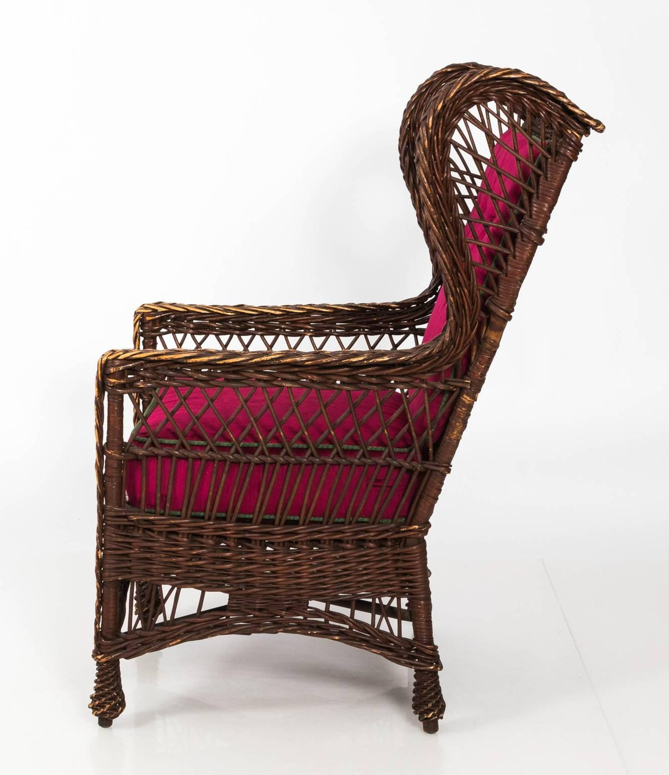 Victorian Wicker Chair For Sale 7