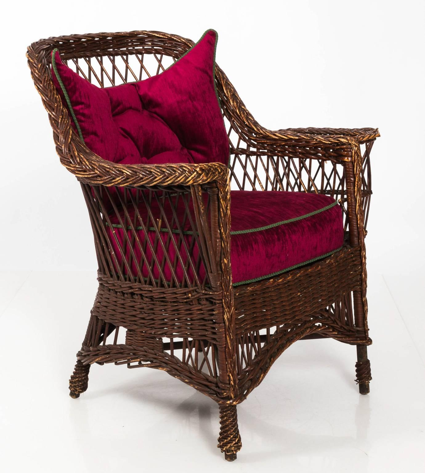 Victorian Wicker Chair For Sale 13