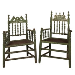 Set of Swiss Provincial Armchairs