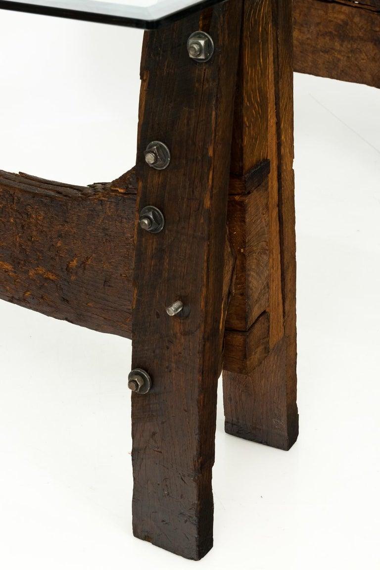 Industrial Oak Table For Sale 1