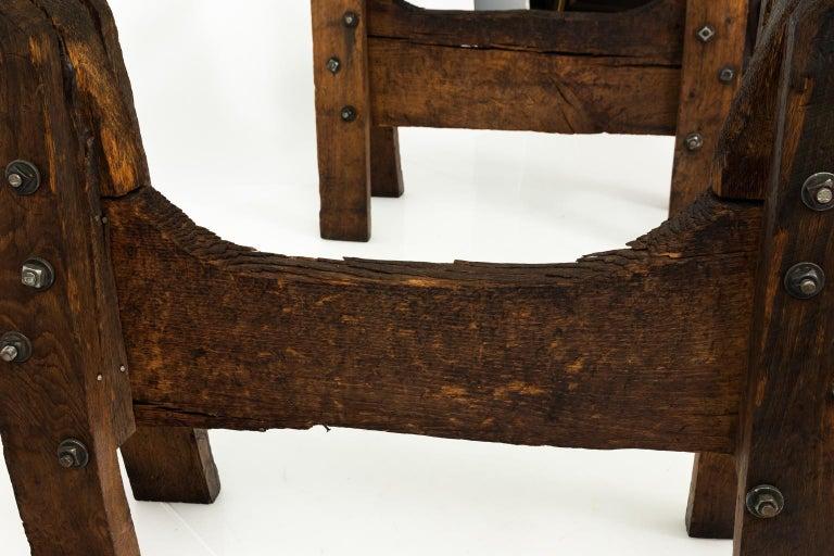Industrial Oak Table For Sale 2
