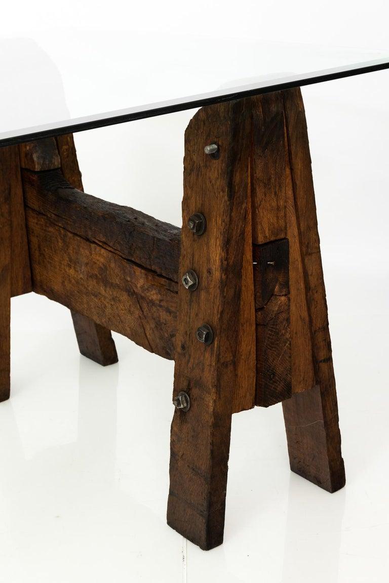 Industrial Oak Table For Sale 4