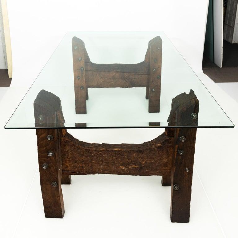 Industrial Oak Table For Sale 5