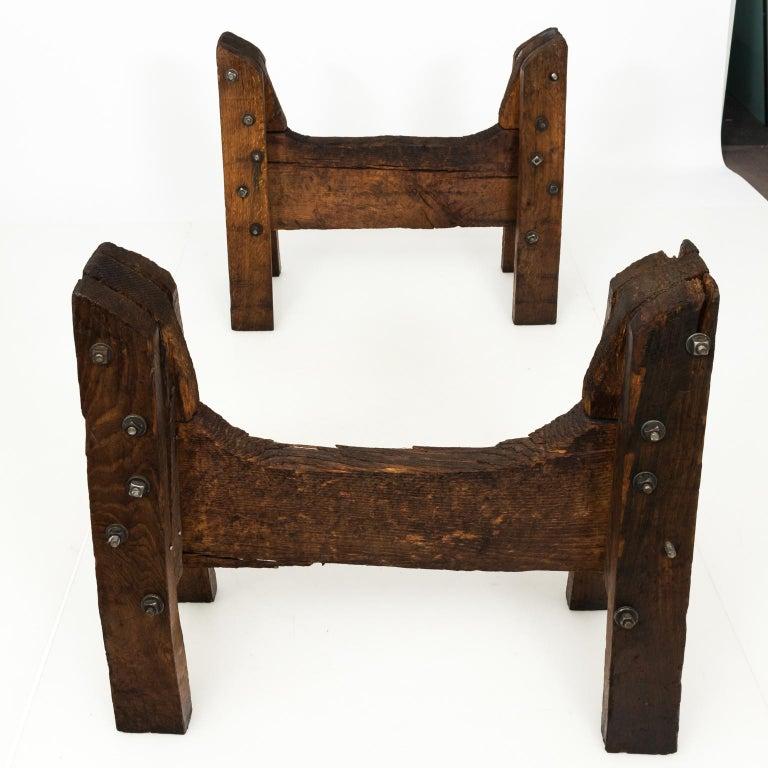 Industrial Oak Table For Sale 6